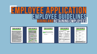 Employee Application and Employee Guidelines