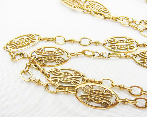 Edwardian 18KT French Chain