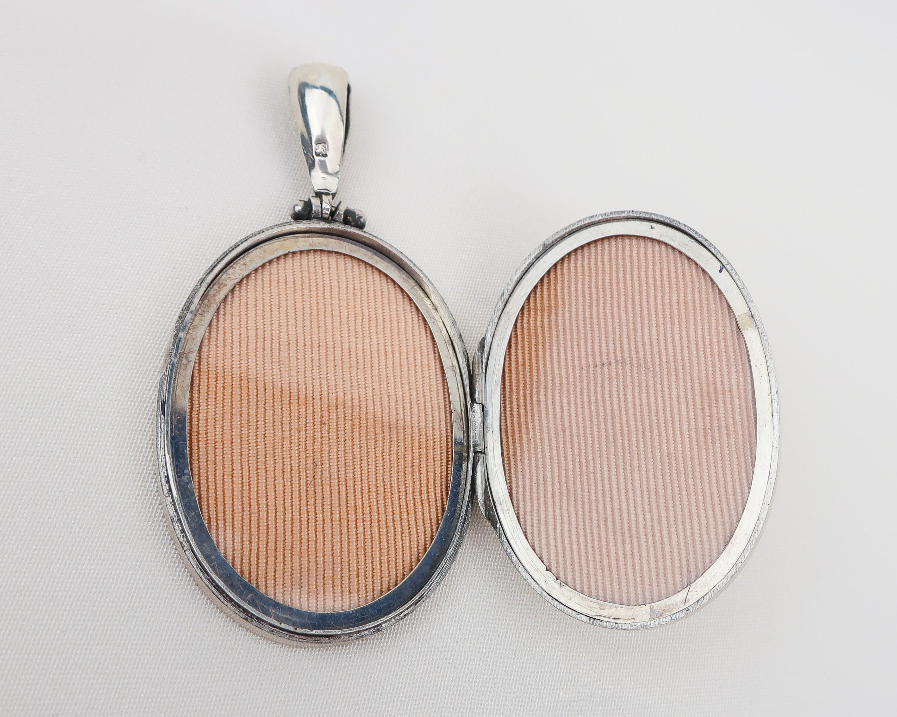 Victorian Silver Engraved Locket