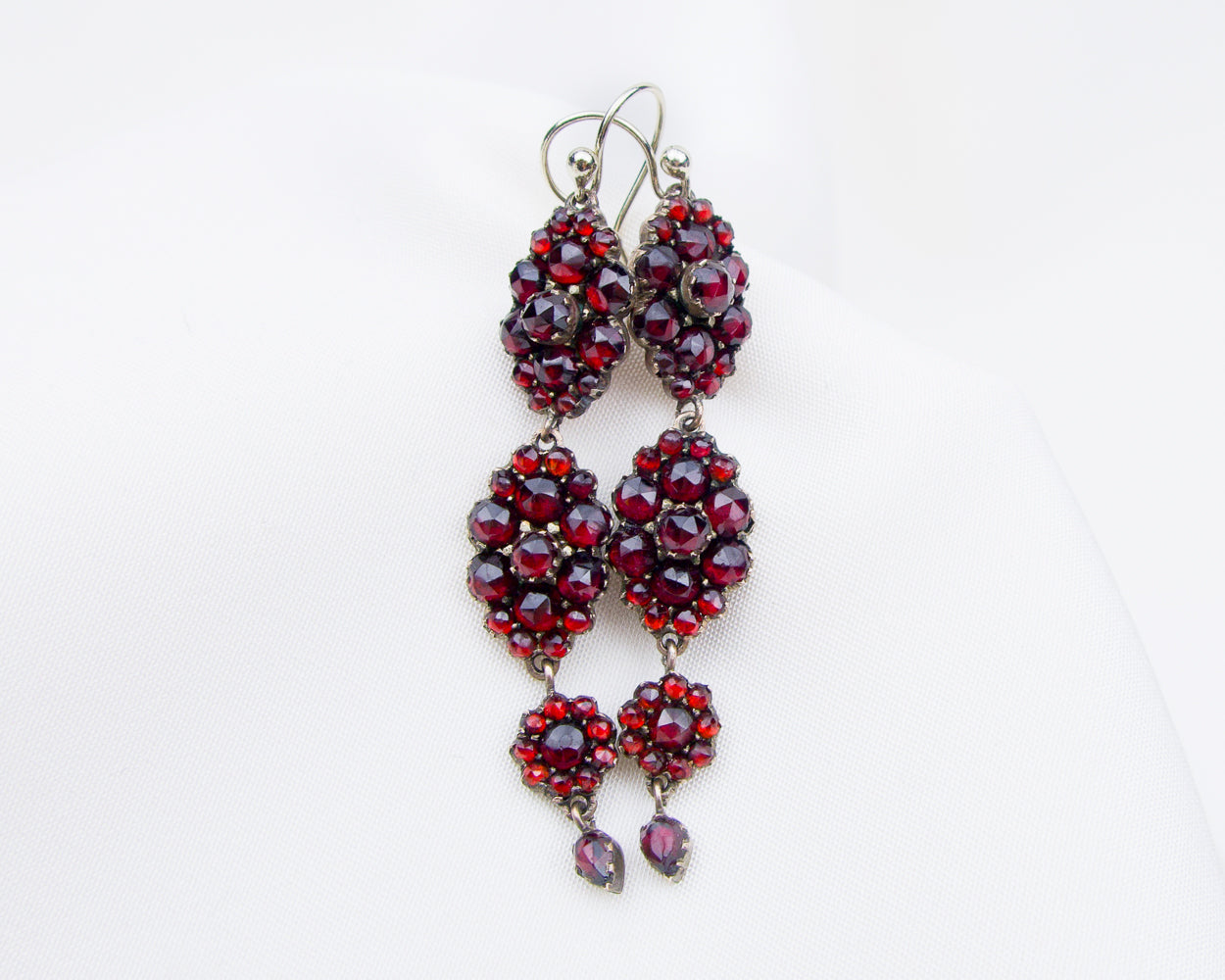 Victorian Garnet Dangle Earrings