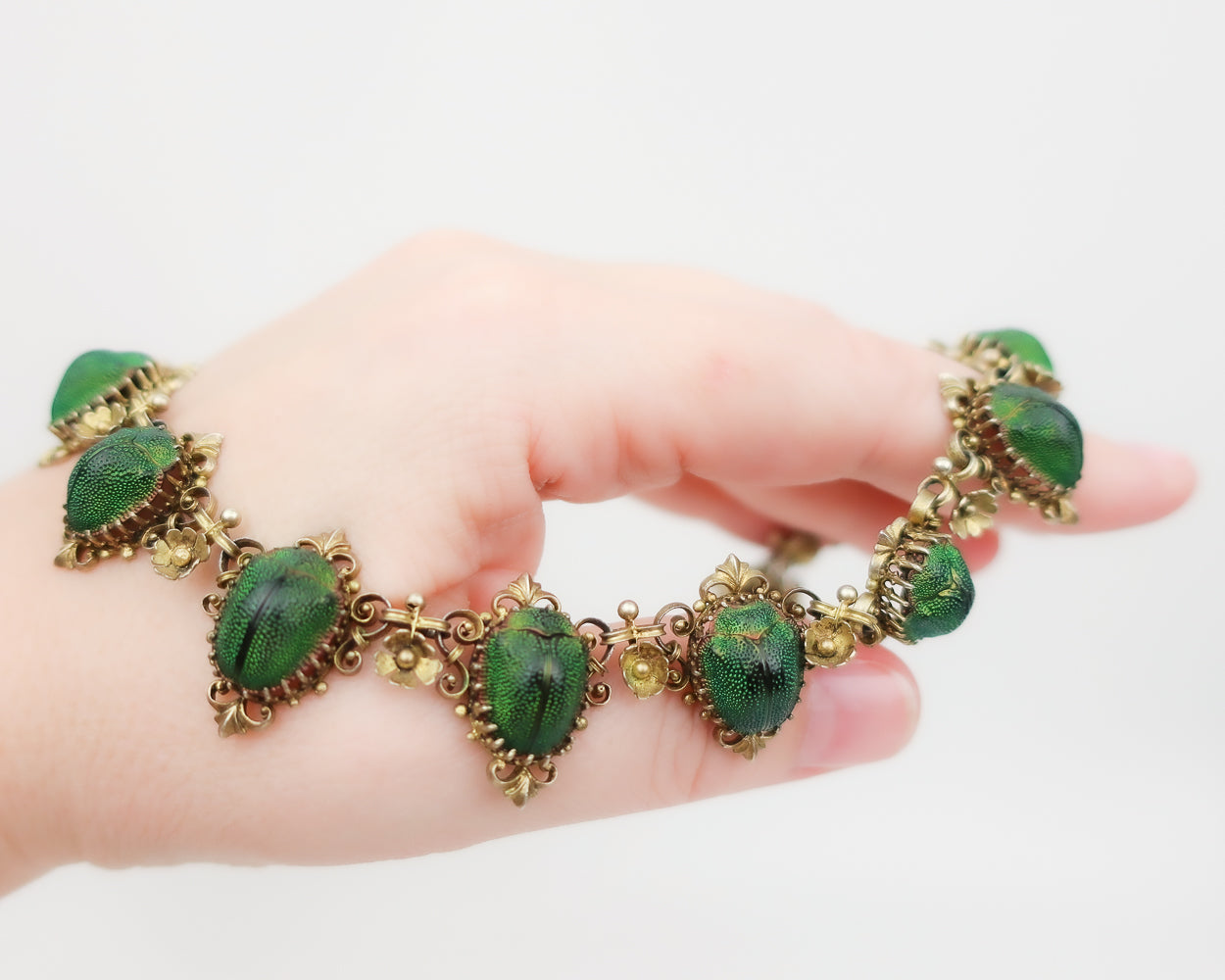 Victorian Etruscan Revival Scarab Necklace