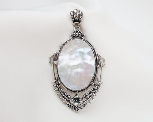 Arts & Crafts Era Mother-Of-Pearl Pendant