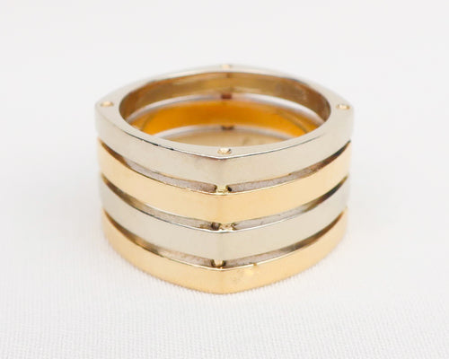 Vintage Mixed-Metal Gold Band