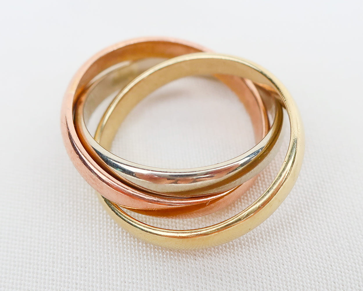 Vintage Three-Ring Mixed-Metal Band
