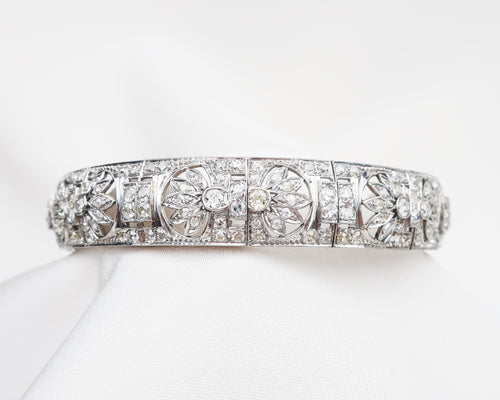 Art Deco Diamond Bangle Bracelet