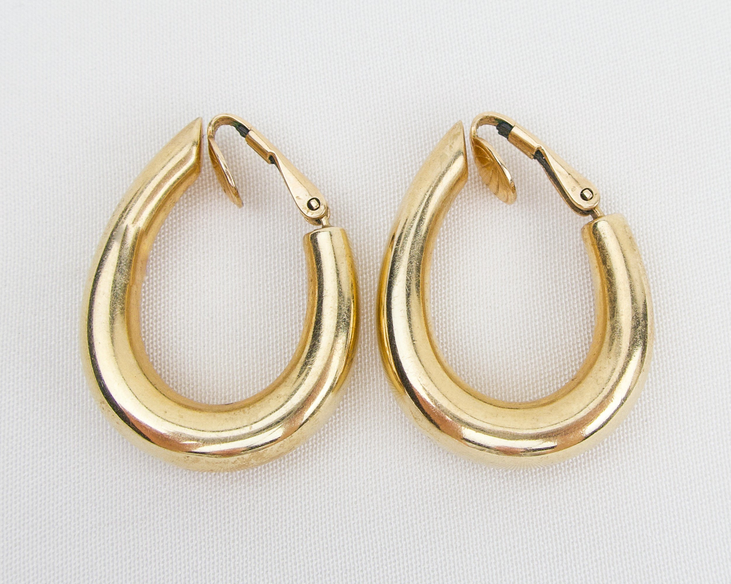 Midcentury Hollow Hoop Earrings