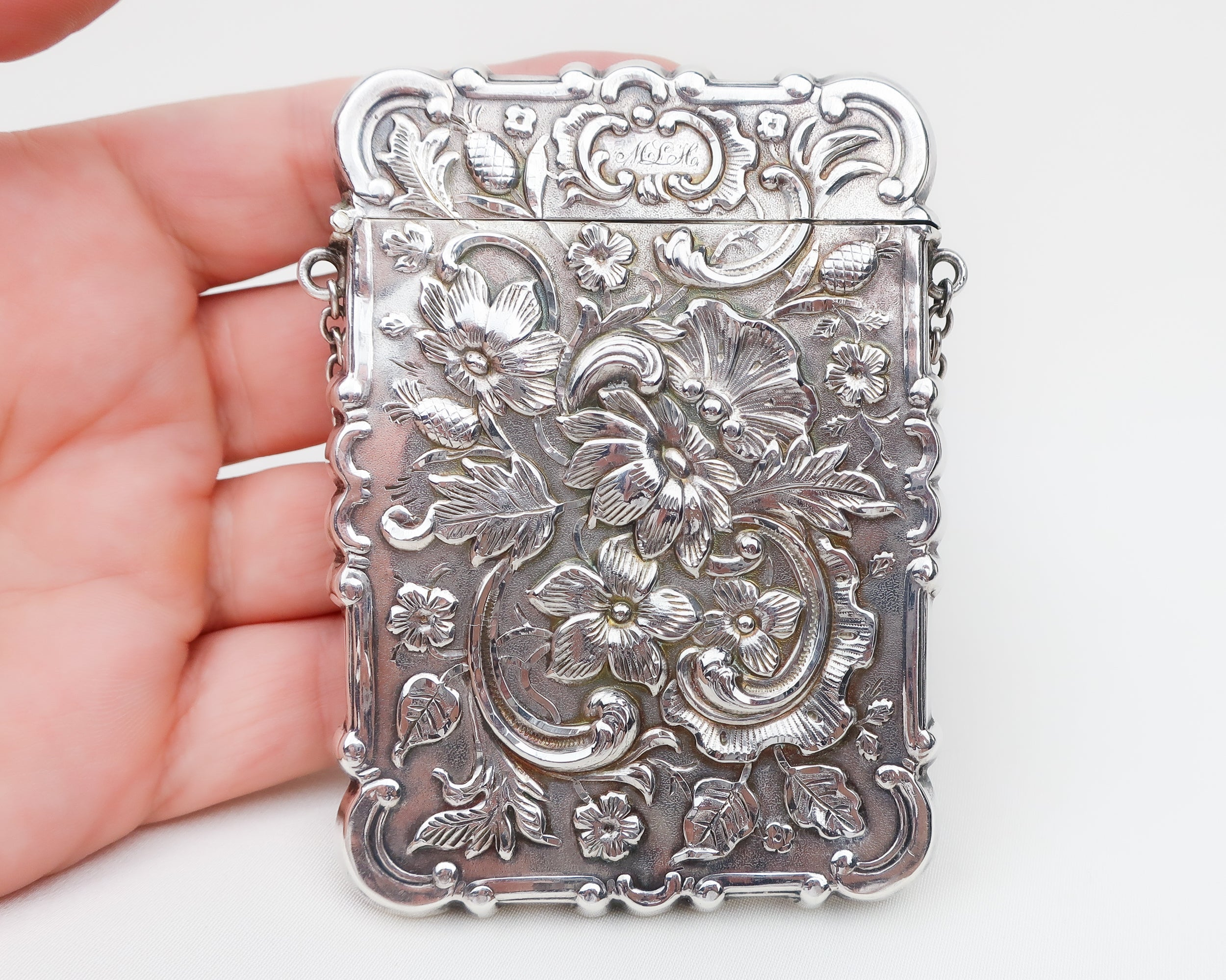 Victorian Cigarette Case with Eagle Motif