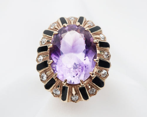 Victorian Amethyst and Diamond Ring