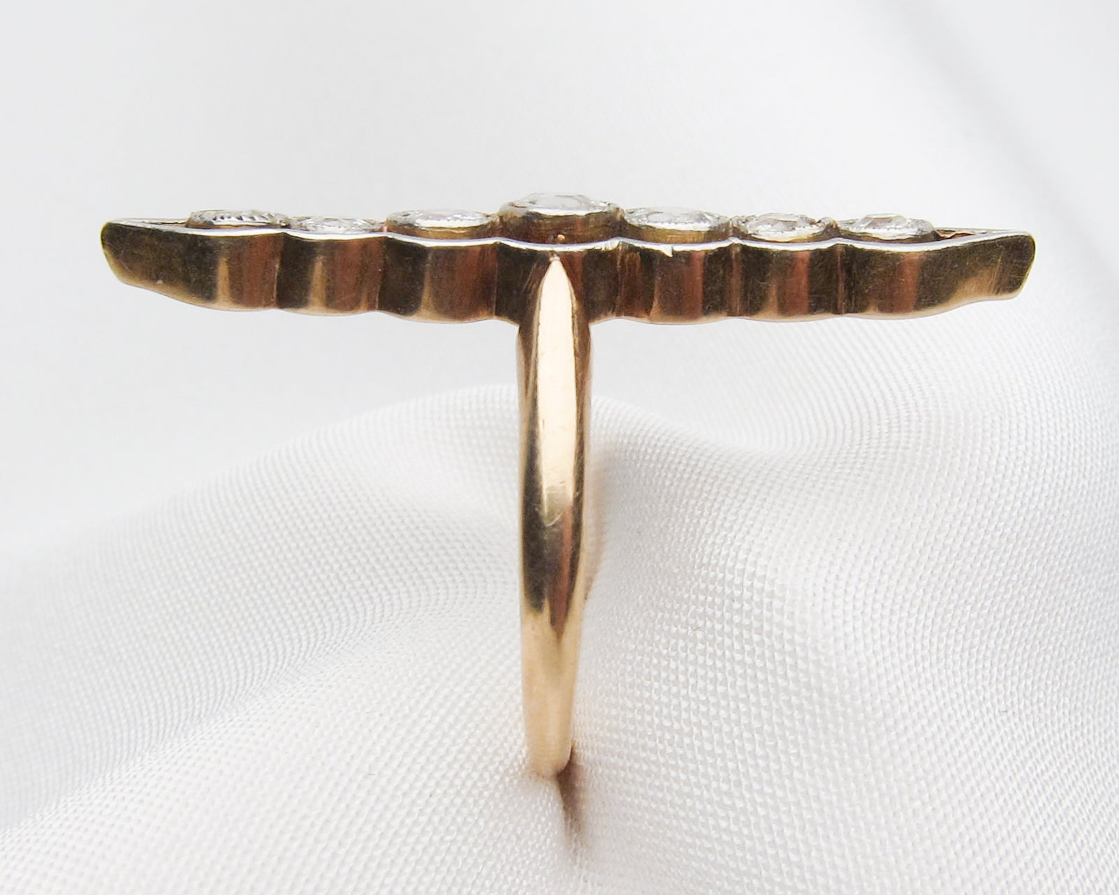 Edwardian Diamond Navette Ring