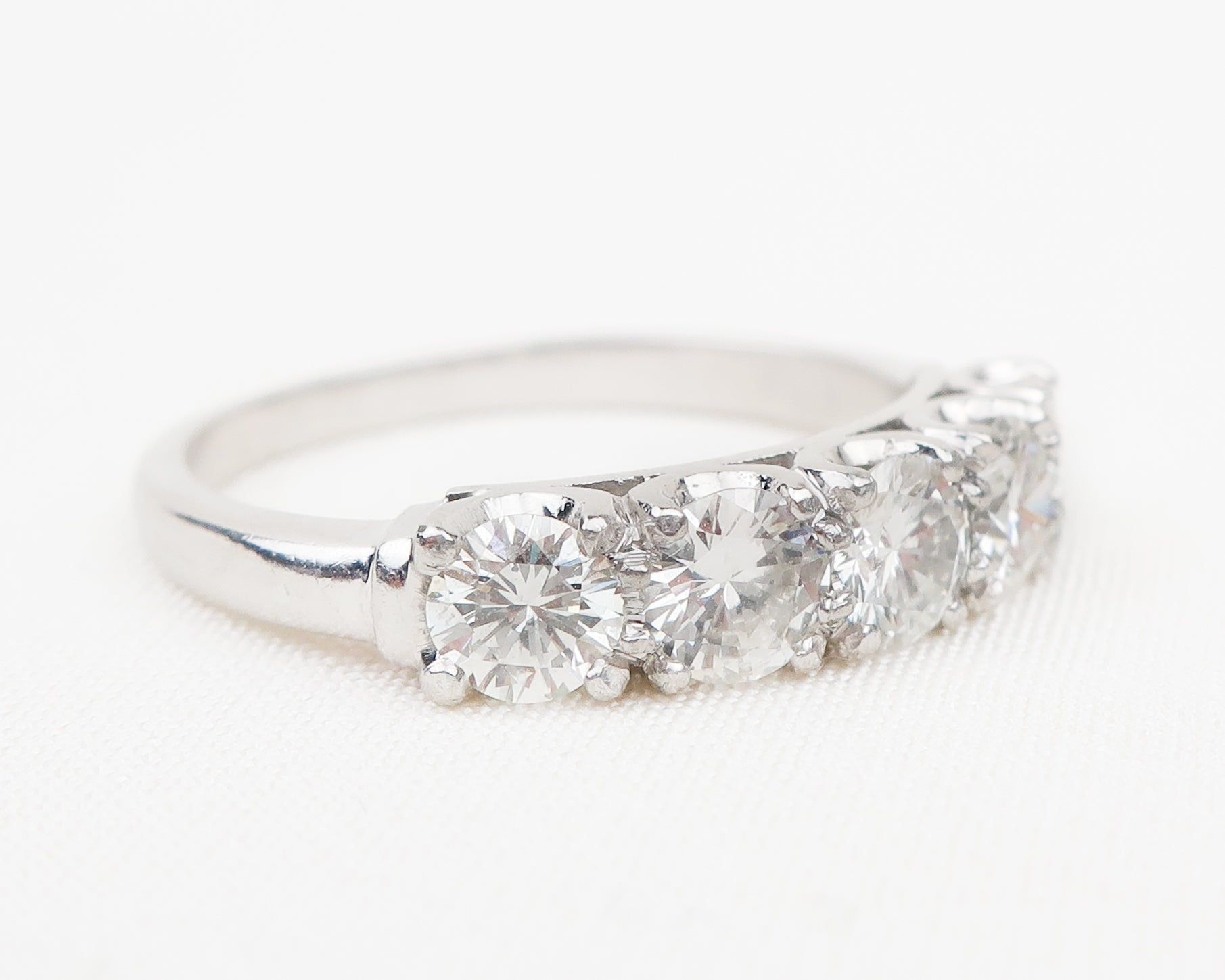 Vintage Platinum Diamond Demi-Band