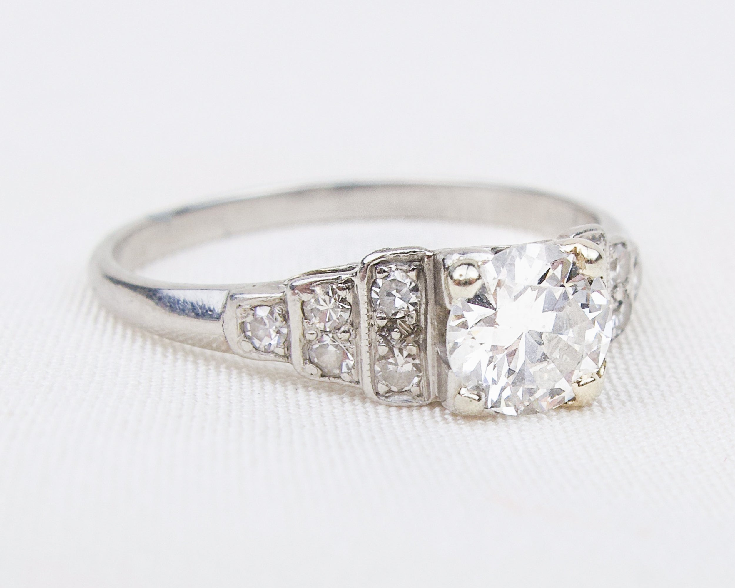 Art Deco Stair-Step Diamond Ring