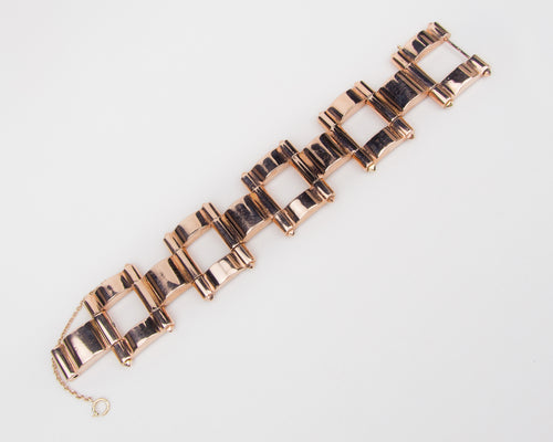 Retro Rose Gold Saks 5th Avenue Bracelet