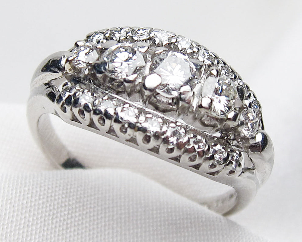 Midcentury Diamond Ring