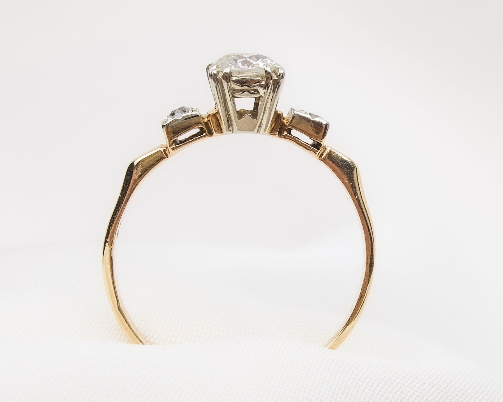 1940s European-Cut Diamond Ring