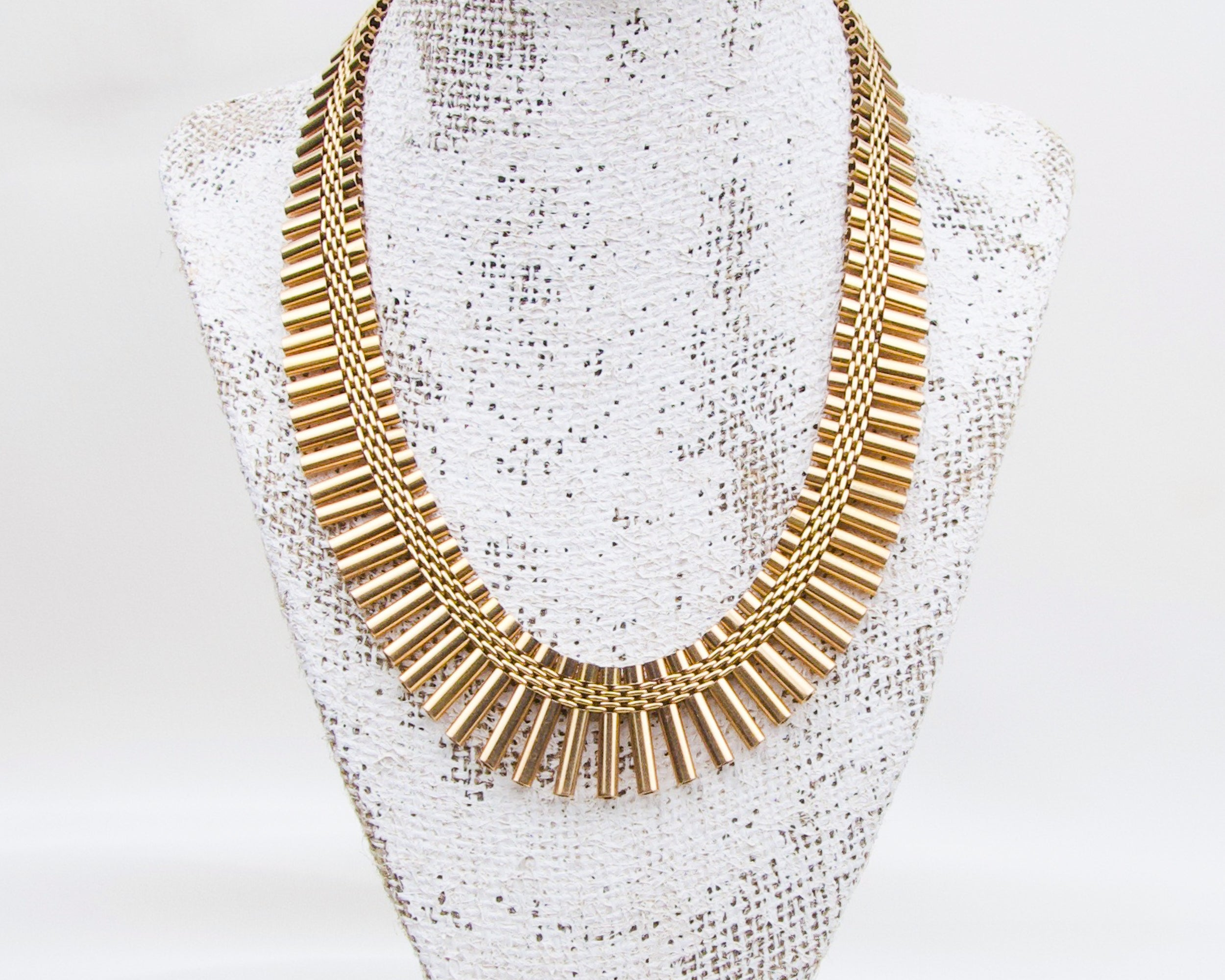 Retro 18KT Gold Fringe Necklace