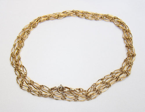 Victorian French 18KT Gold Chain