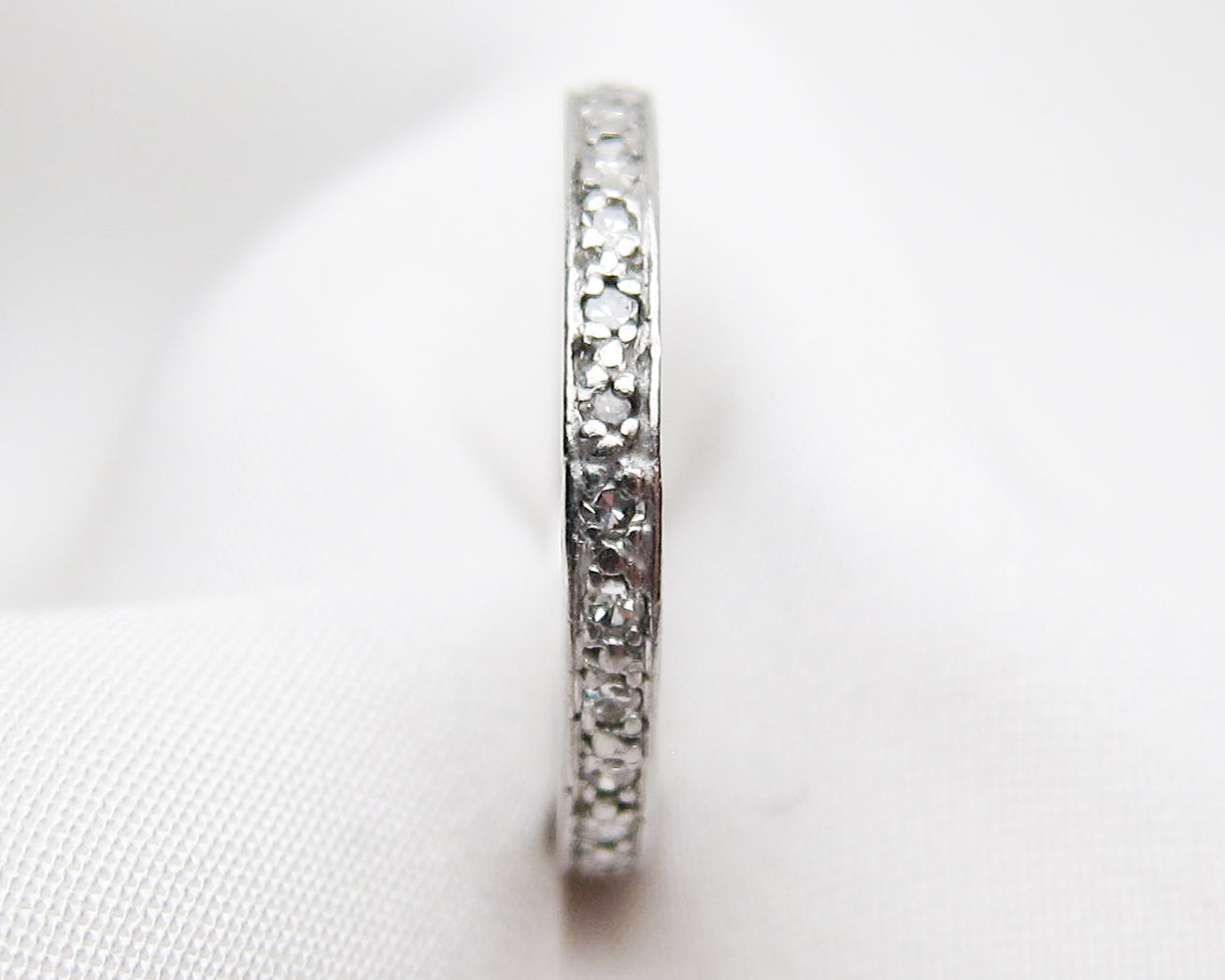 Deco Diamond Eternity Band