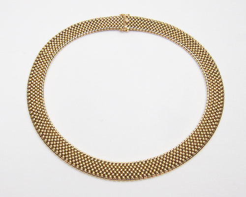 Art Deco 18KT Gold French Collar