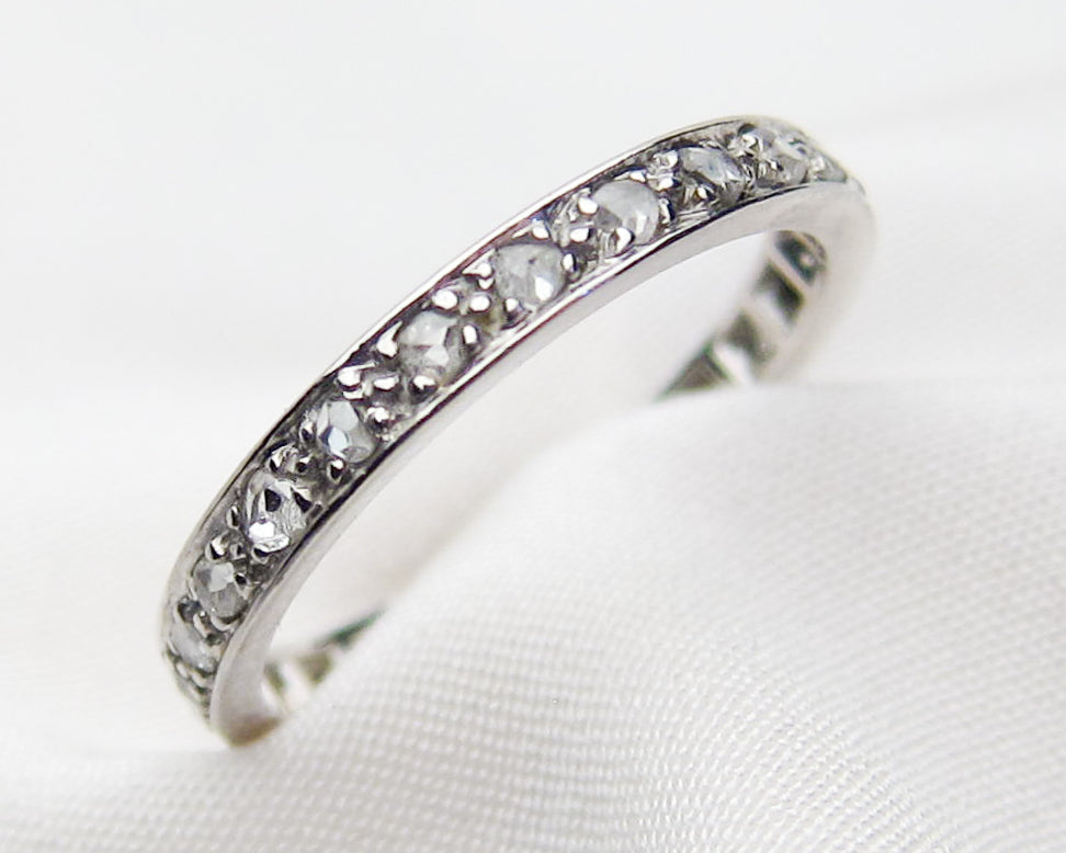 Edwardian Rose-Cut Diamond Eternity Band