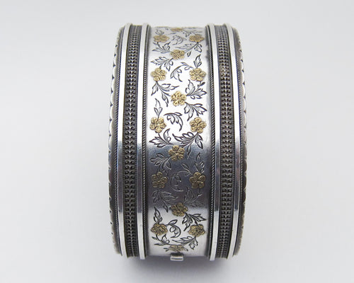 Victorian Engraved Silver Bangle