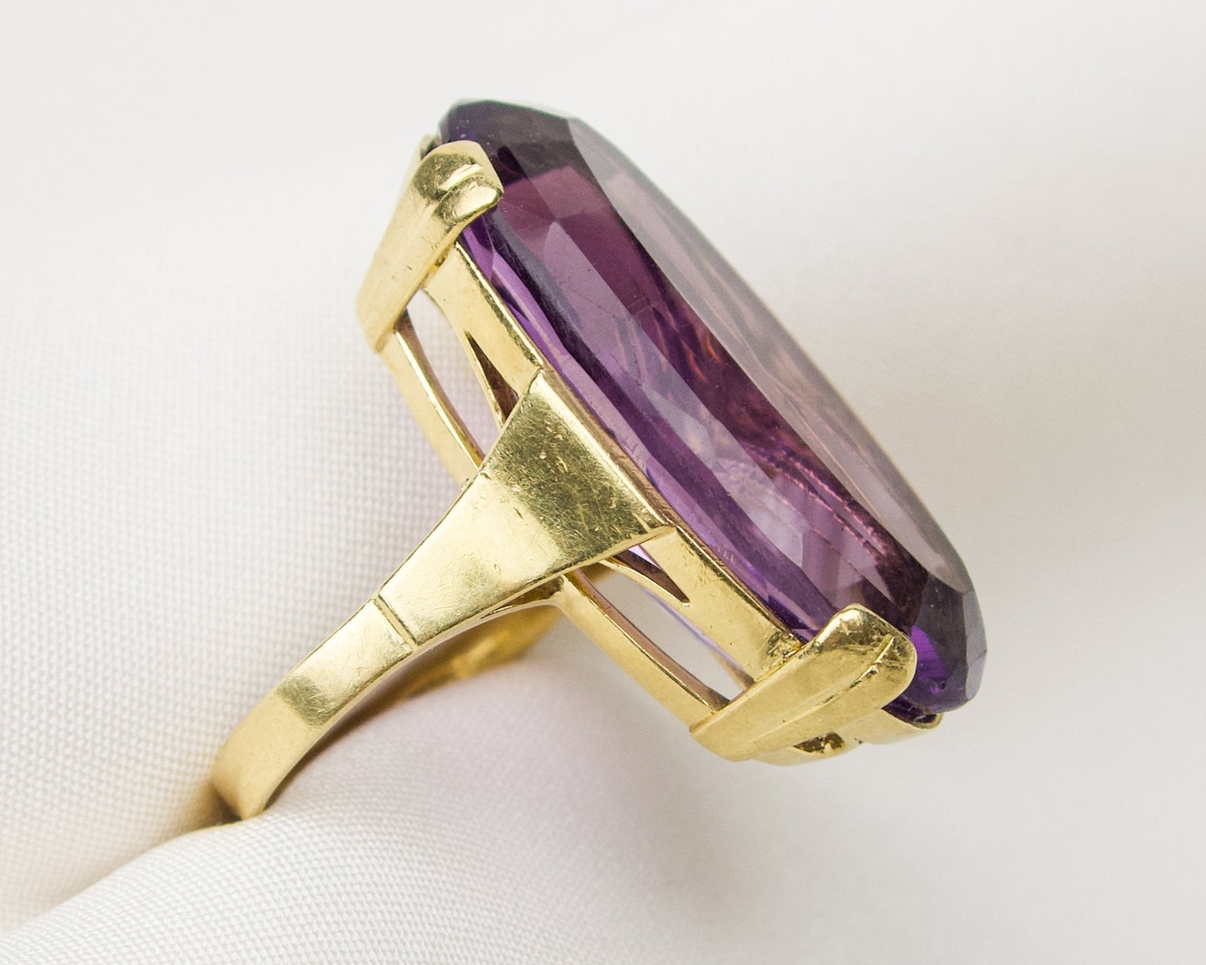 Midcentury Amethyst Cocktail Ring
