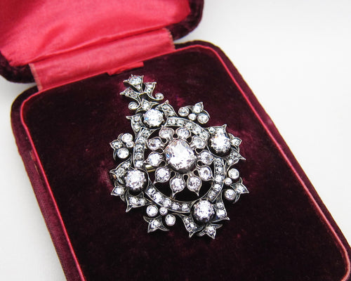 Gorgeous Victorian Diamond Pendant Necklace