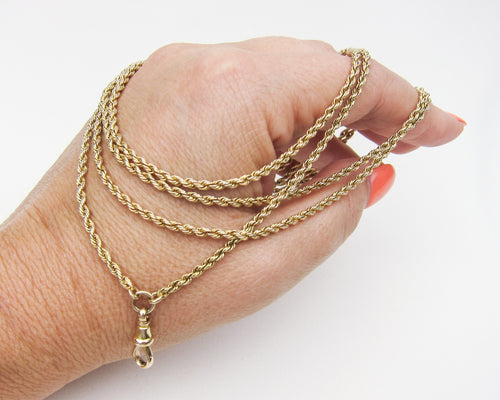 Victorian 15KT Gold Rope Chain