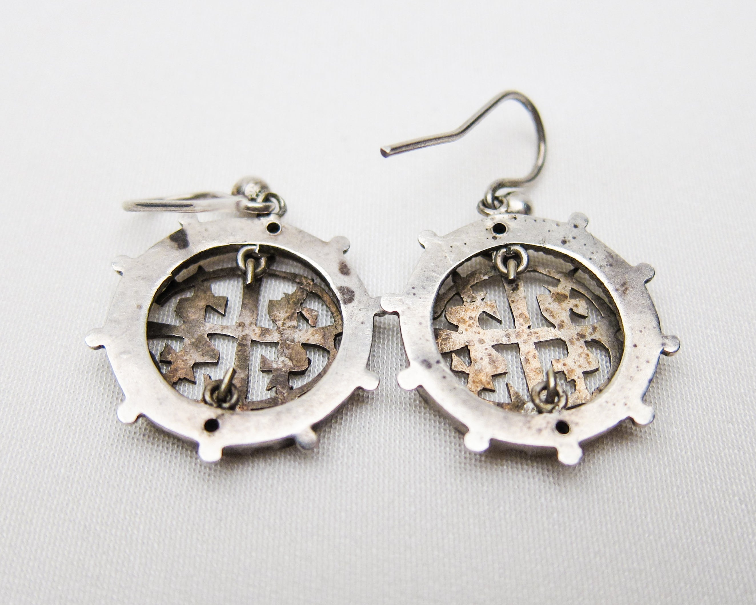 Victorian Openwork Silver Earrings