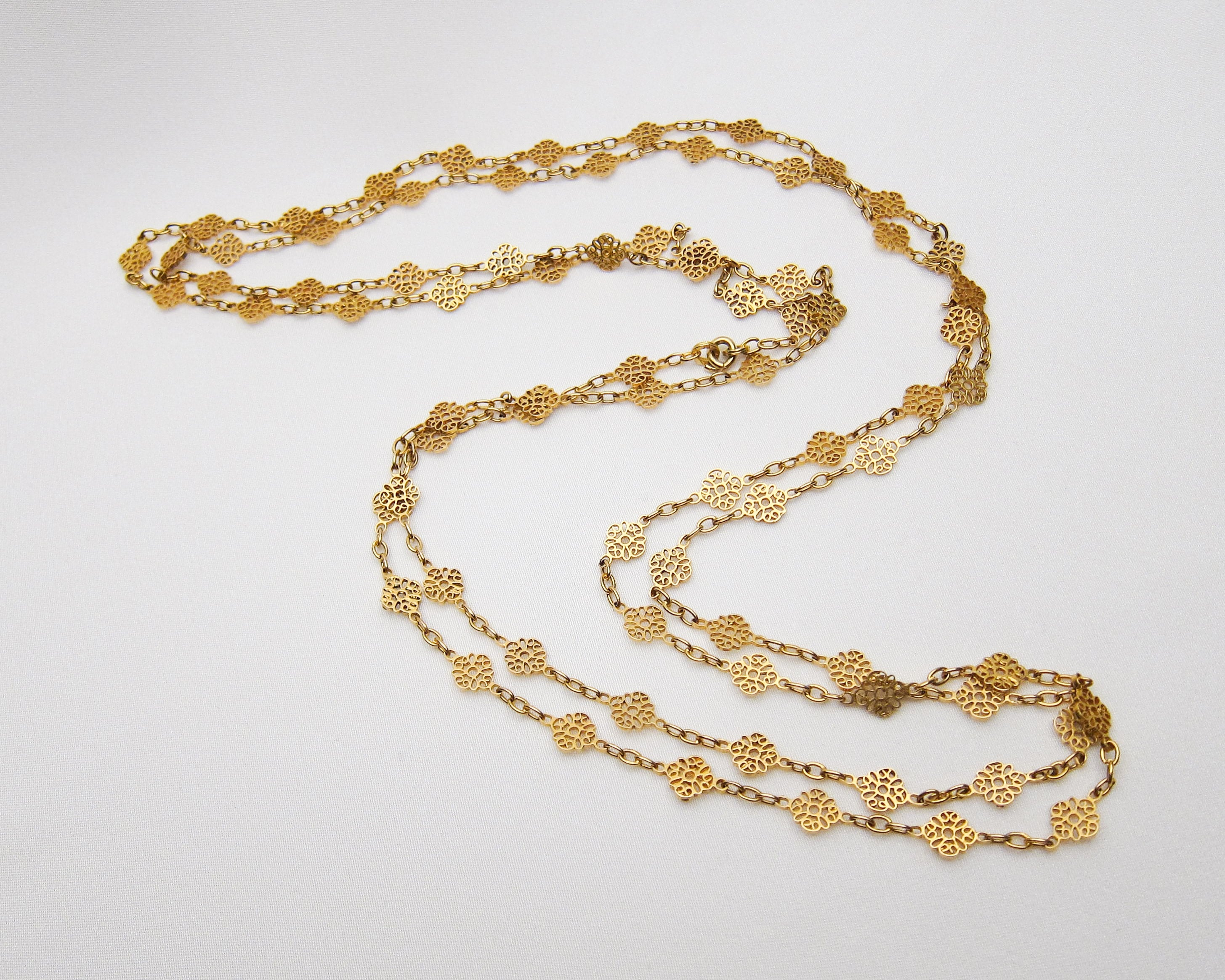 Victorian 18KT Gold Ornate Chain
