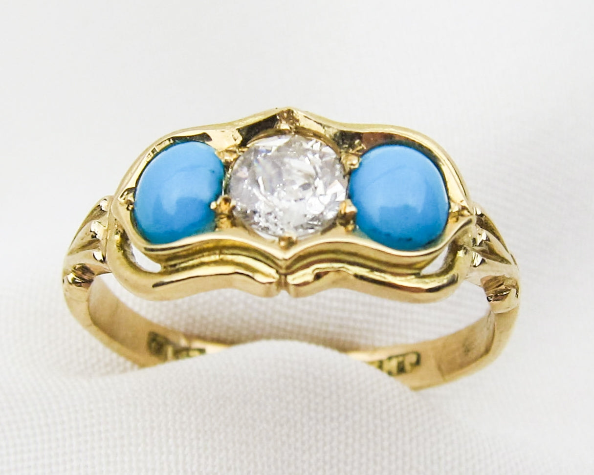 turquoise-diamond-18KT-gold-ring