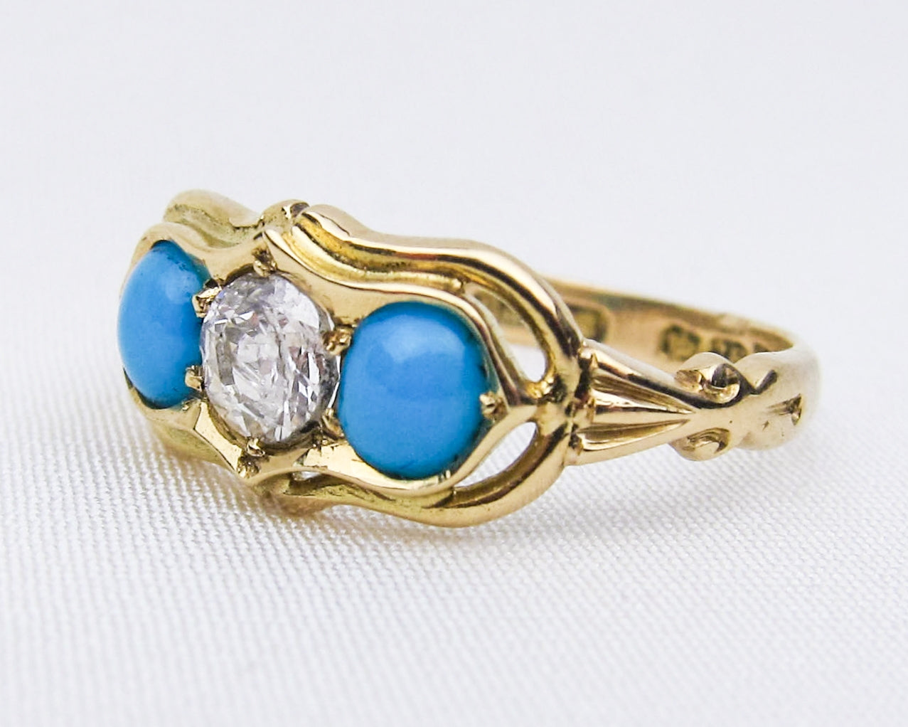 Dated 1916 Turquoise & Diamond Ring