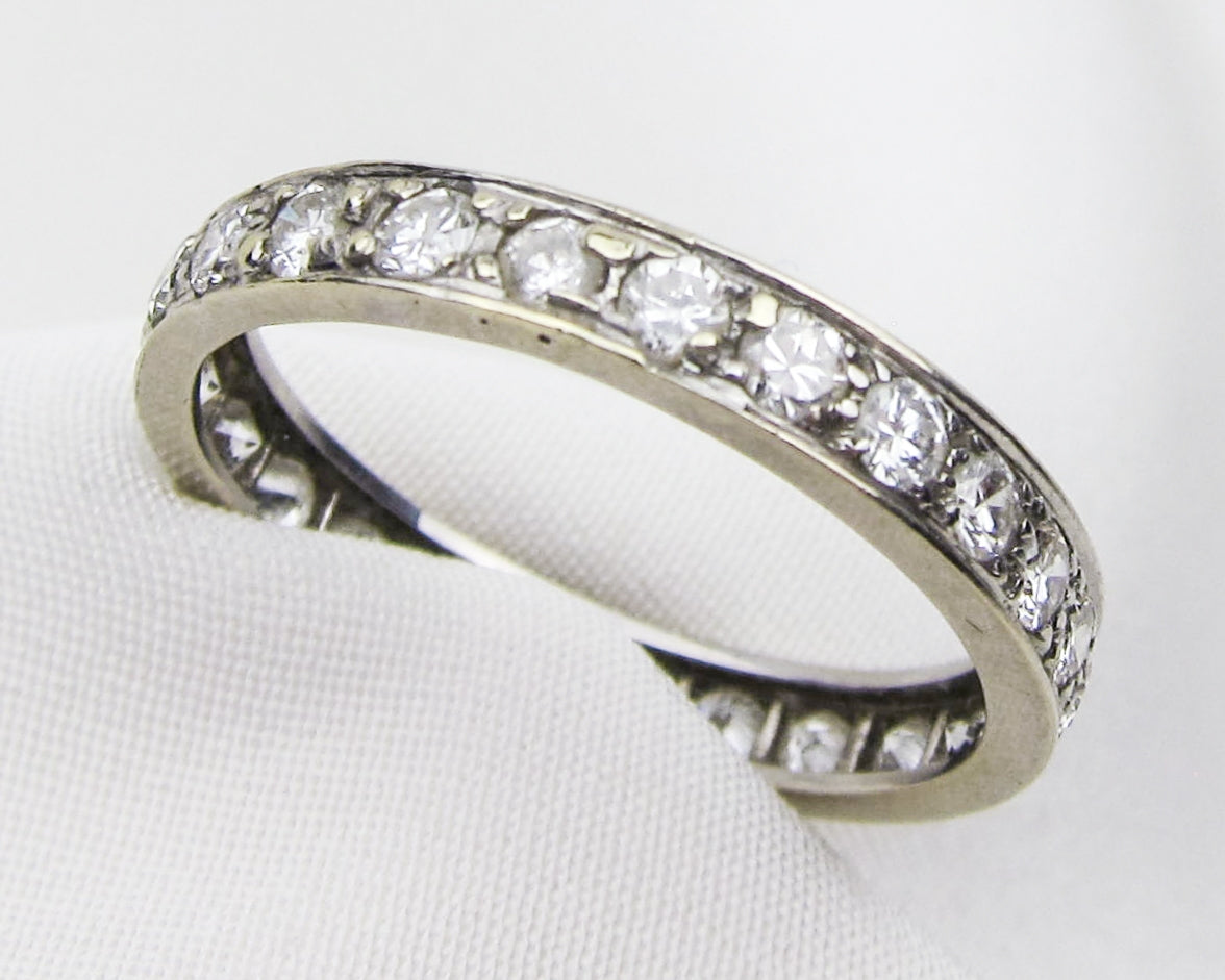 Art Deco White Gold Diamond Eternity Band