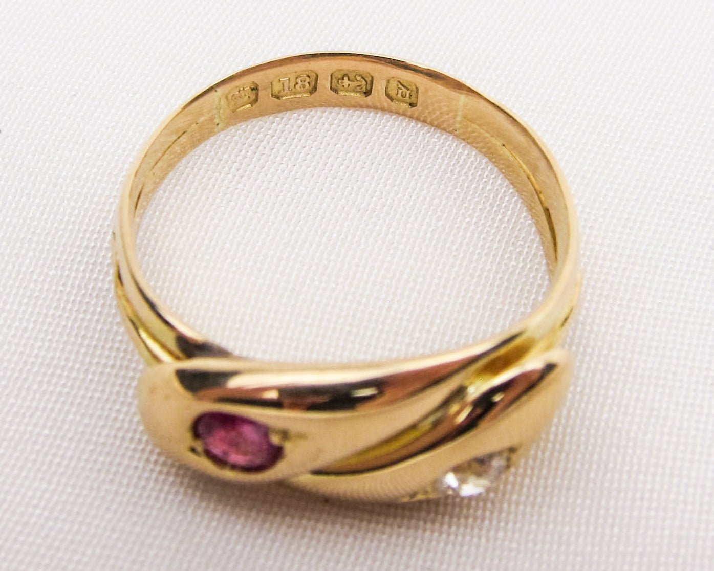 Victorian Ruby & Diamond Snake Ring