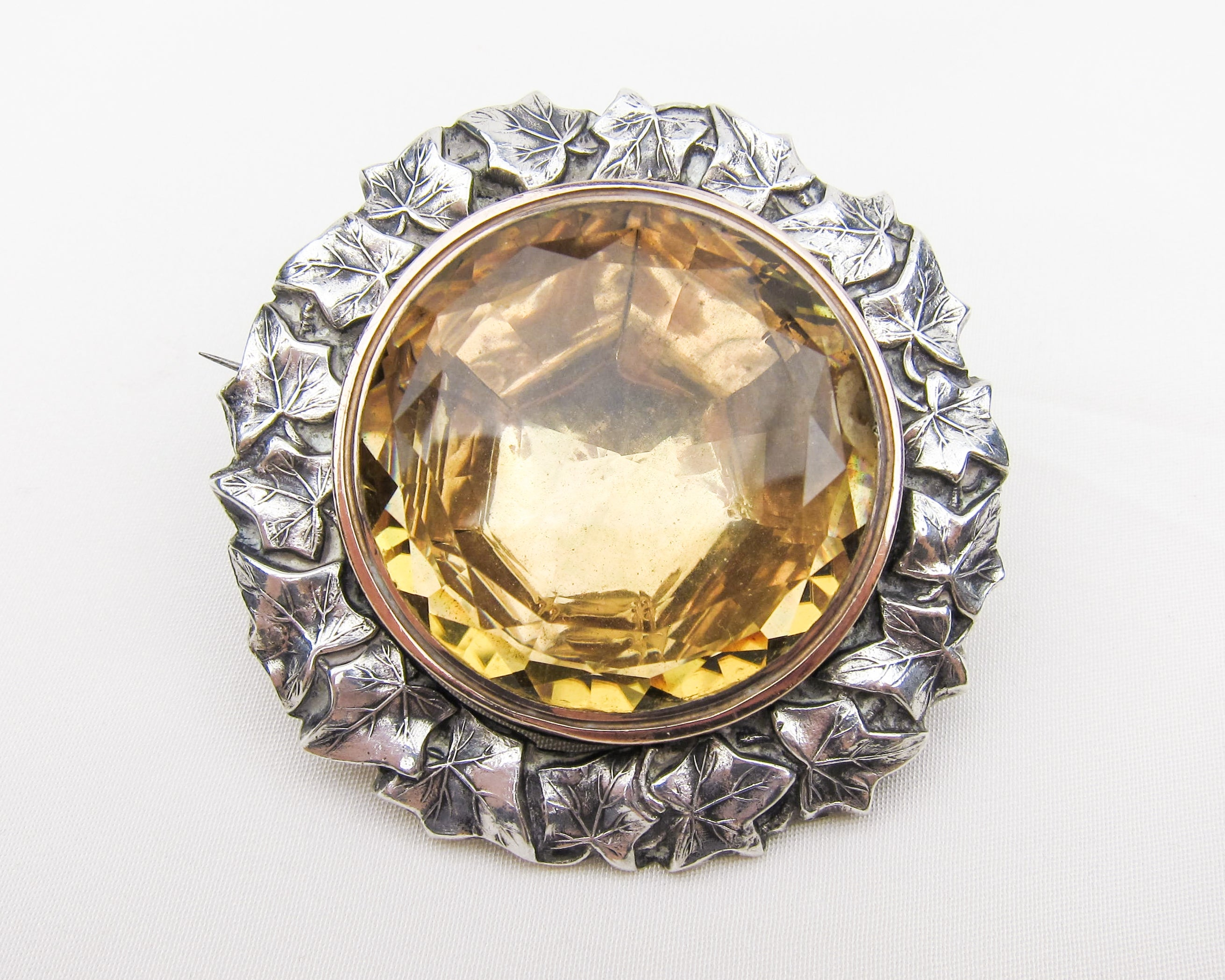 georgian-silver-citrine-foil-backed-brooch