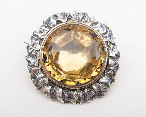 Georgian Scottish Citrine Brooch