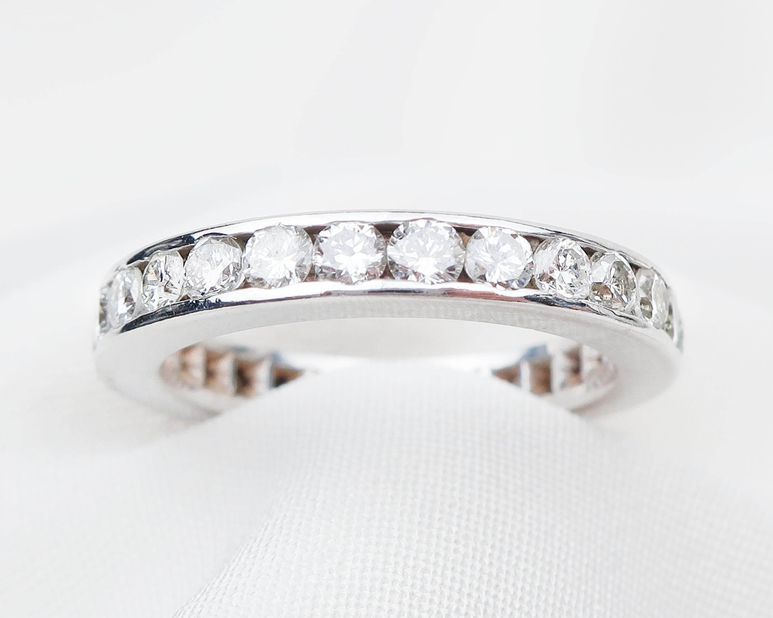 Late-Midcentury French Eternity Band