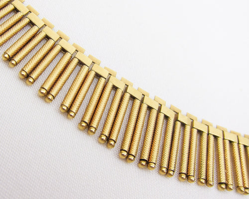 Midcentury 18KT Graduated Fringe Necklace