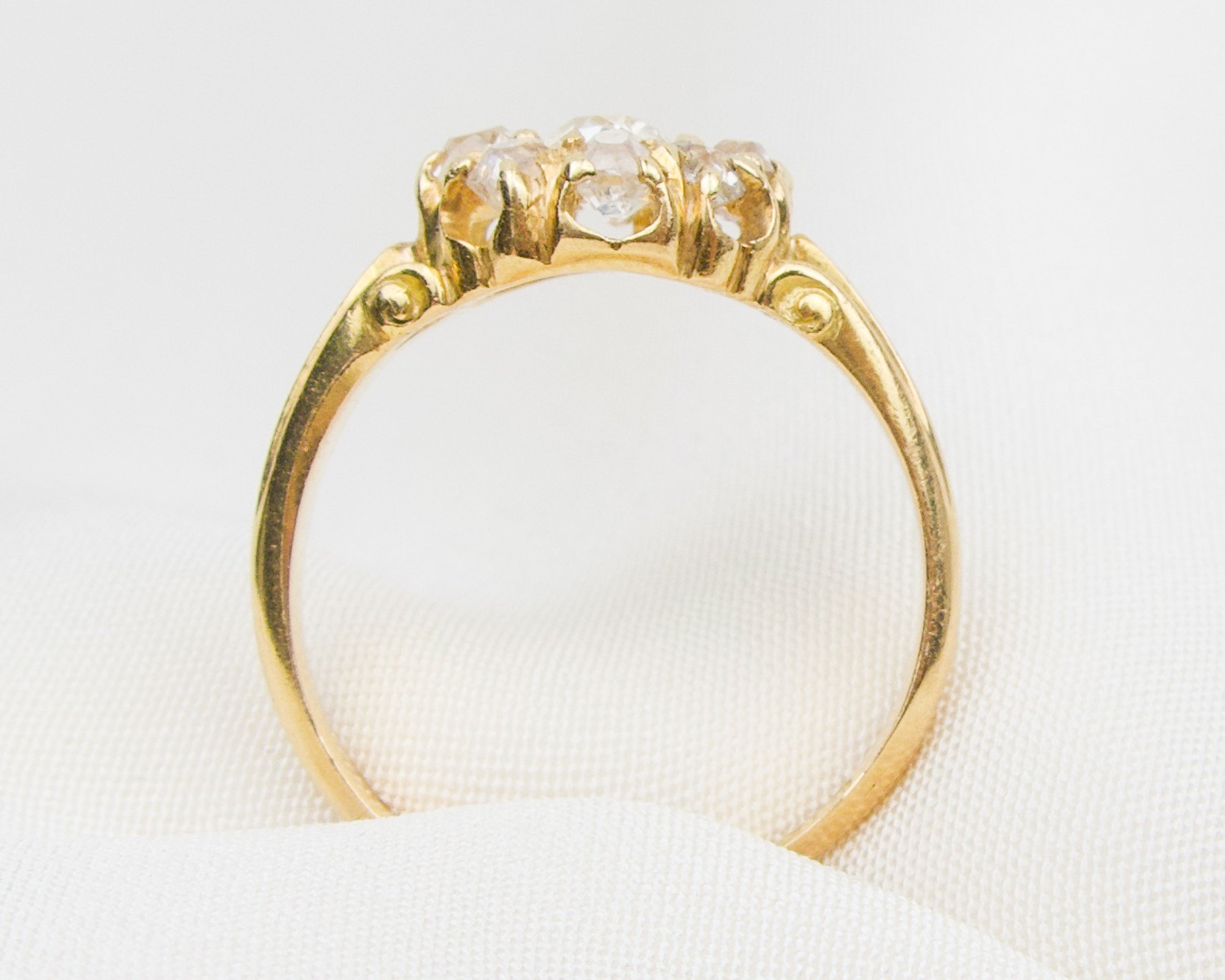 Victorian 18KT Gold Diamond Cluster Ring