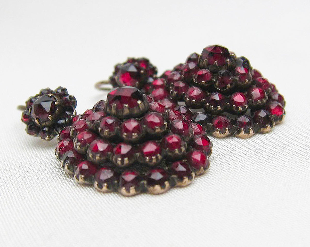 c. 1890 Victorian Garnet Earrings