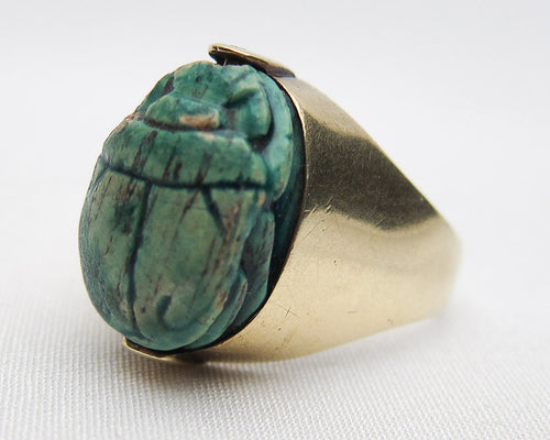 Victorian Egyptian Revival Scarab Ring