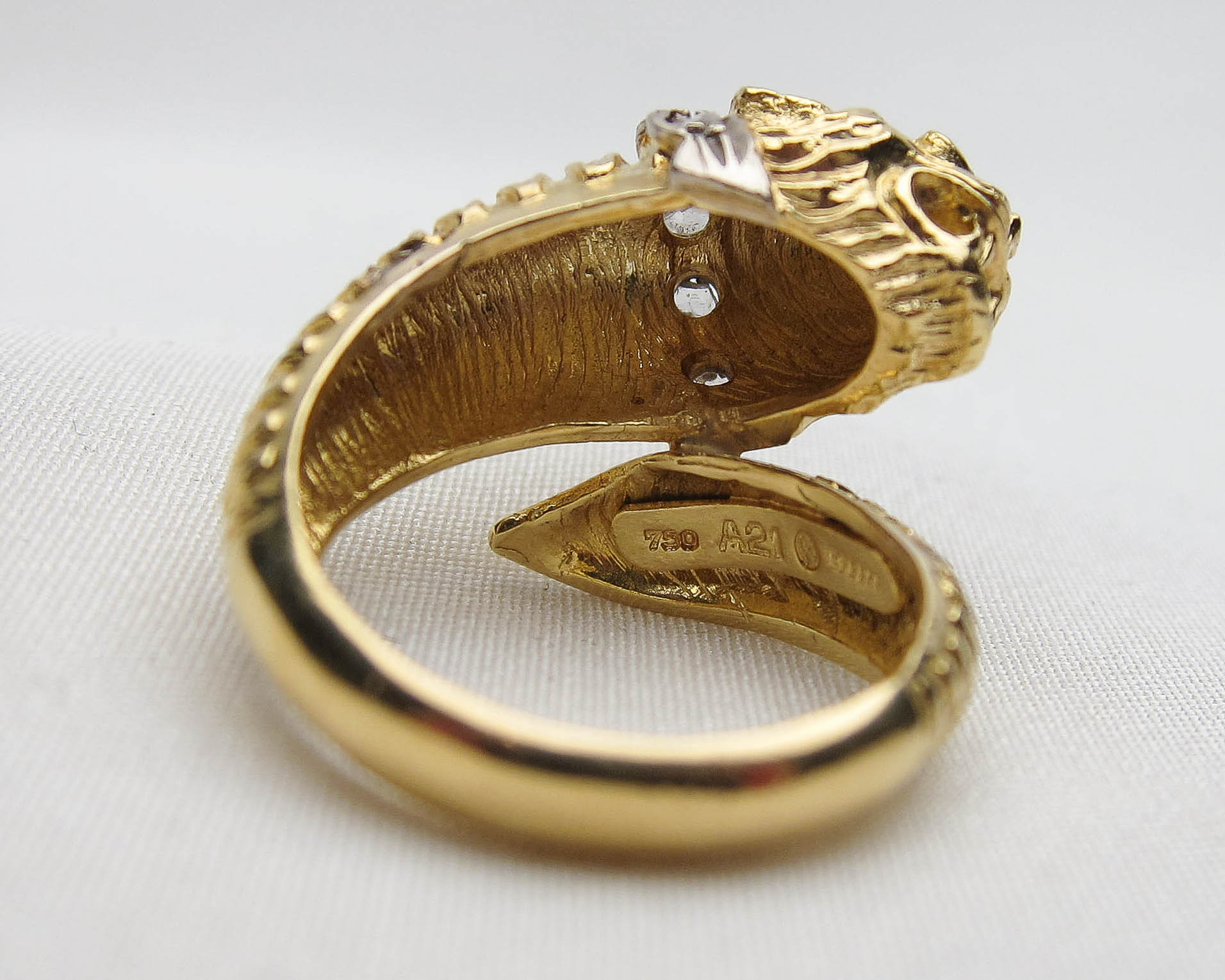 Midcentury 18KT Gold Lion Ring