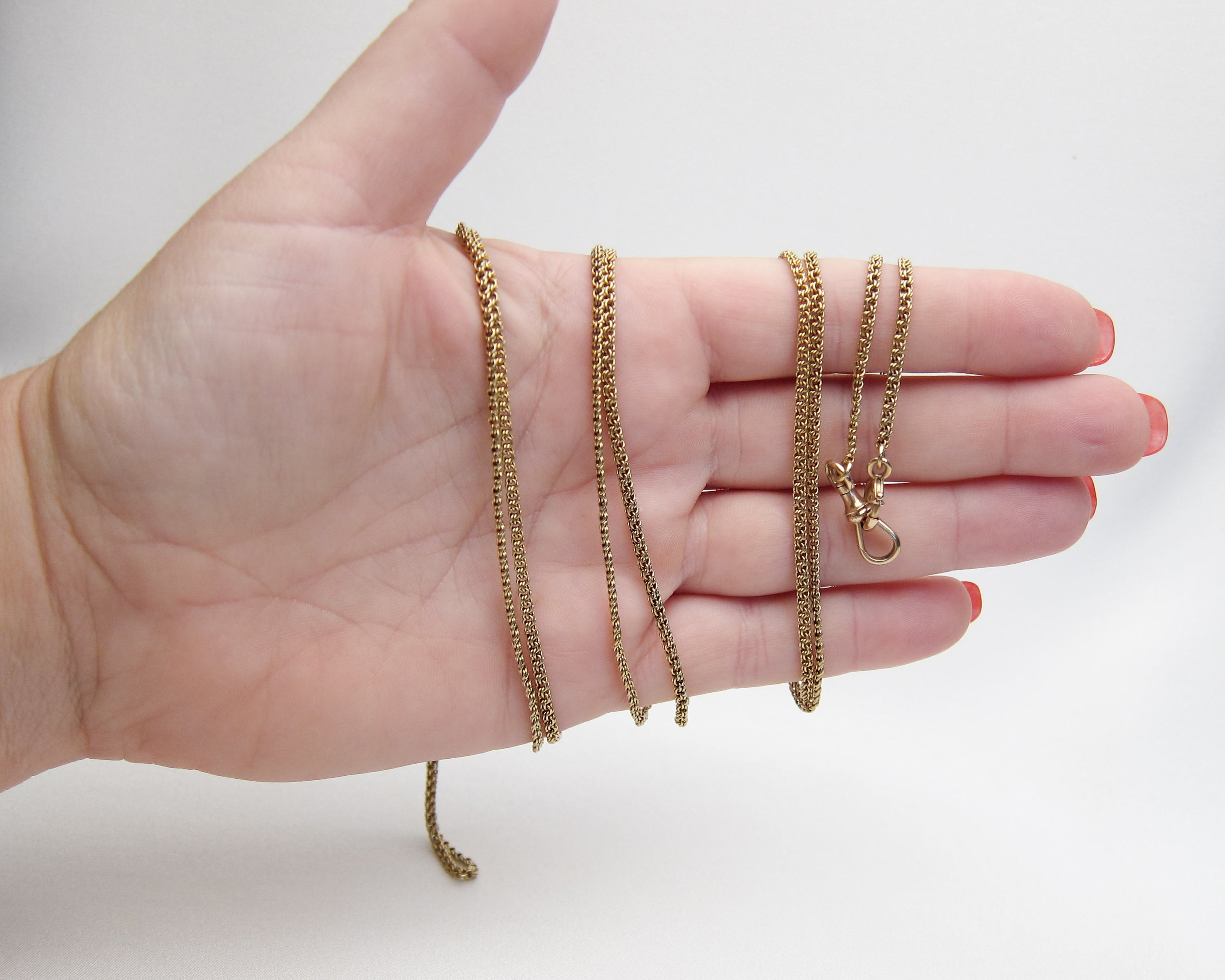 Victorian Long 14KT Gold Chain