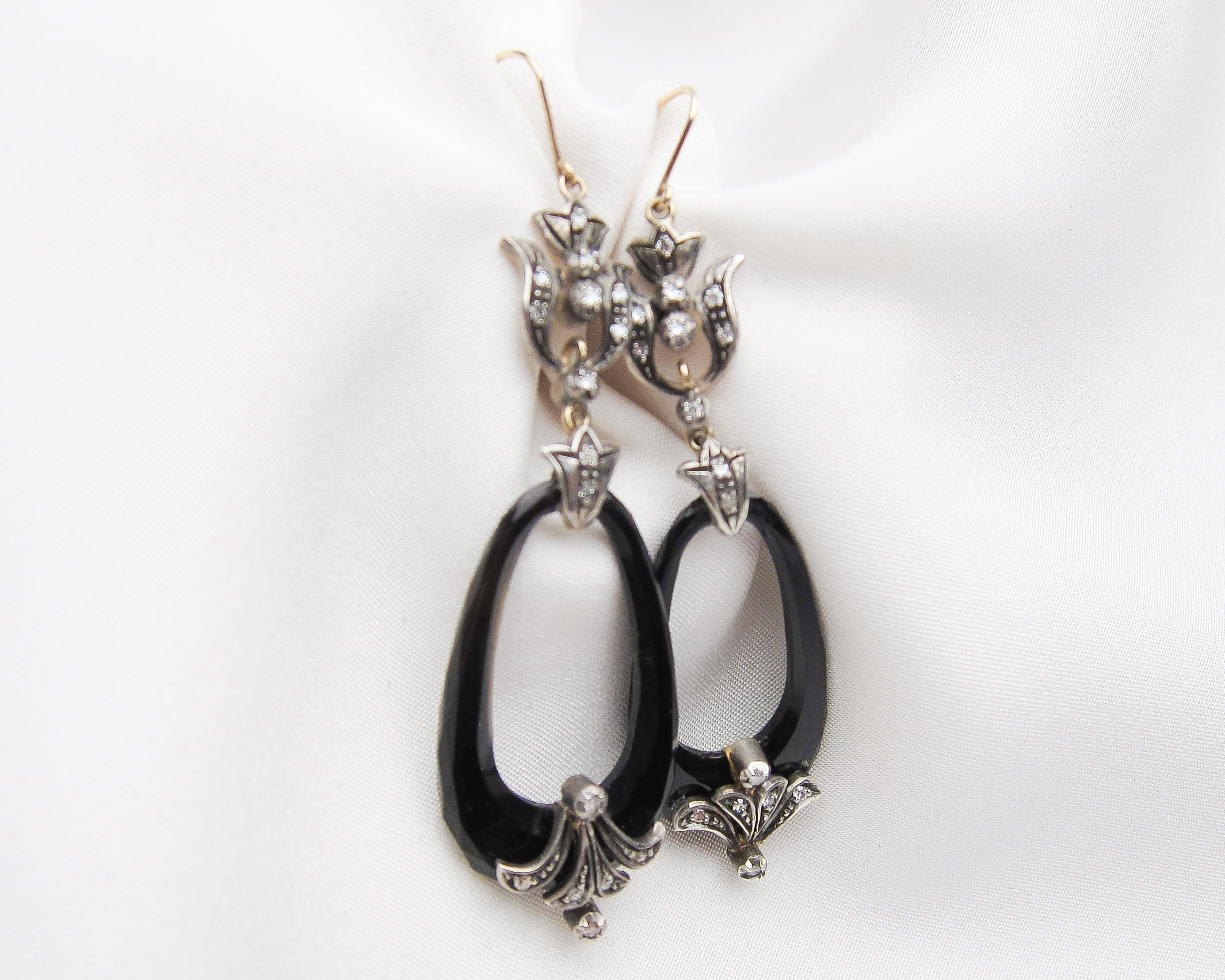 vintage-onyx-diamond-earrings