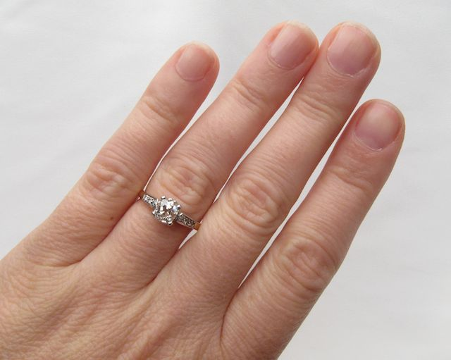 Retro-Era Old European-Cut Diamond Engagement Ring