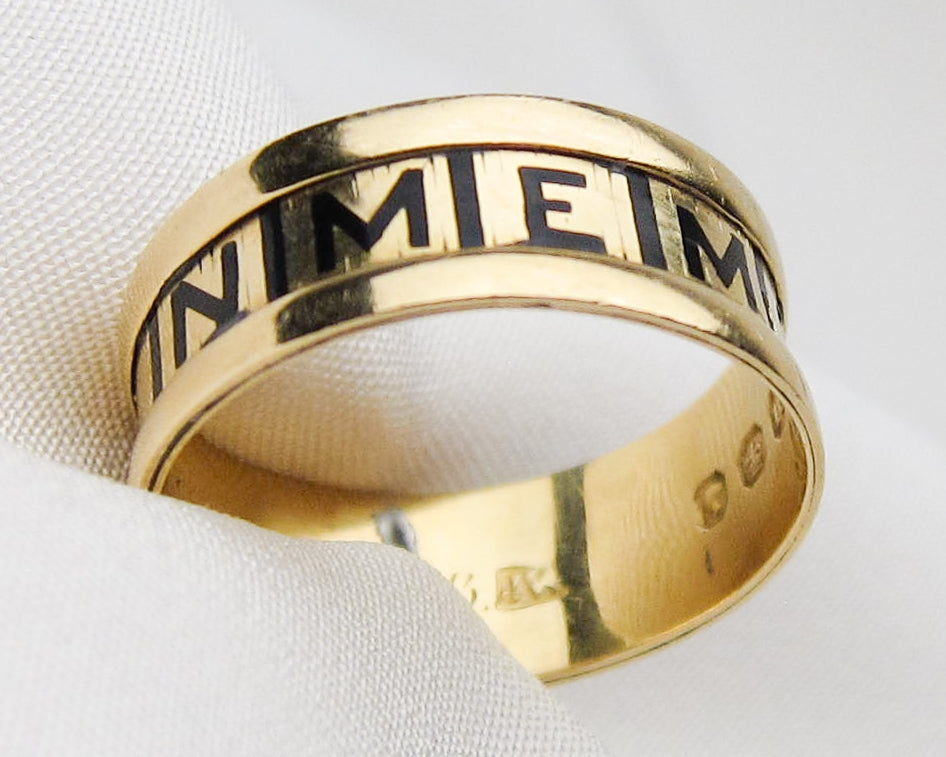 Victorian Enamel Memorial Band