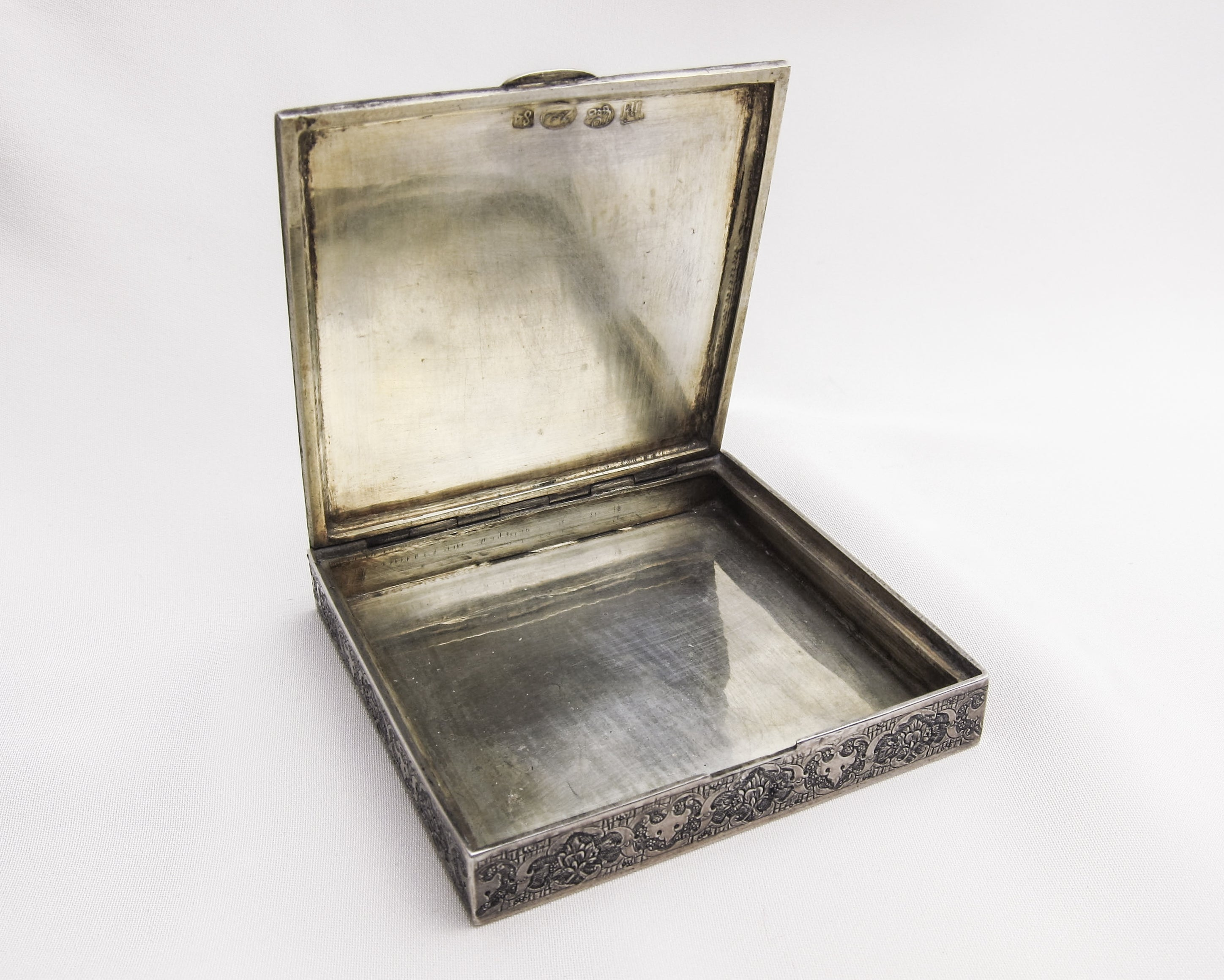 Russian Engraved Silver Box