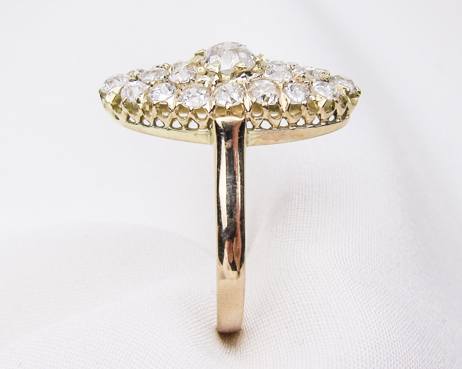 Victorian Navette-Shaped Diamond Ring