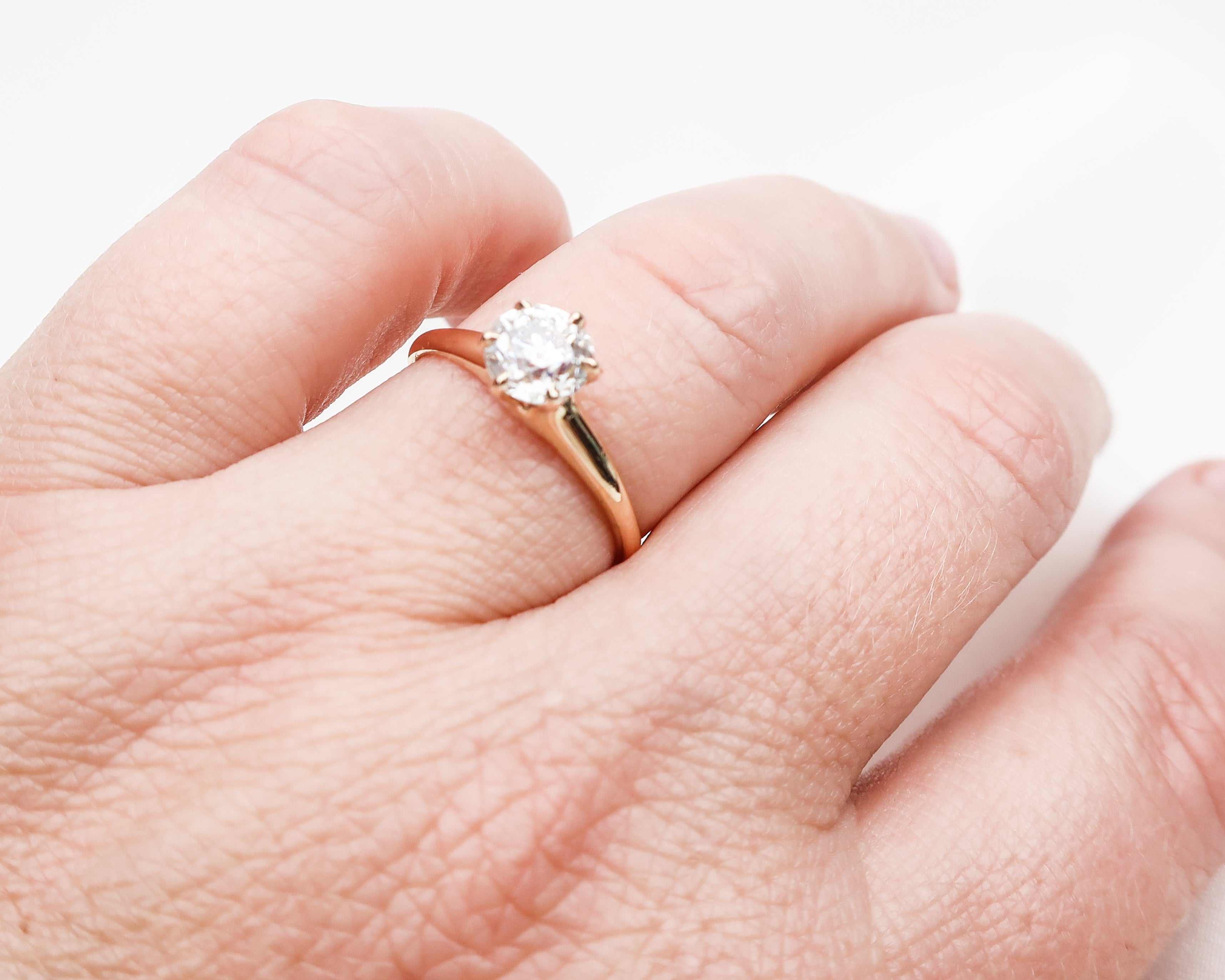 Edwardian 14KT Gold Diamond Solitaire