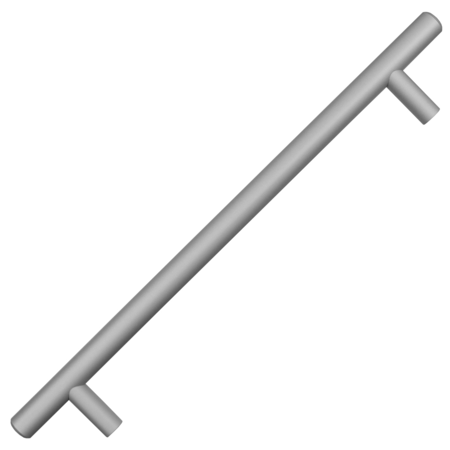 Natural Aluminum Finish Bar Pulls