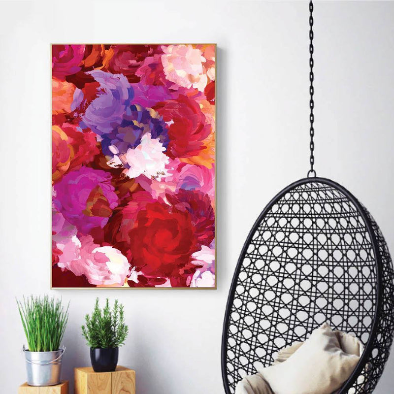 Painted Bouquet Canvas - Nordvian Modern Nordic Decor (Art - )